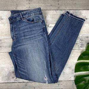 Black house white market skinny ankle jeans
